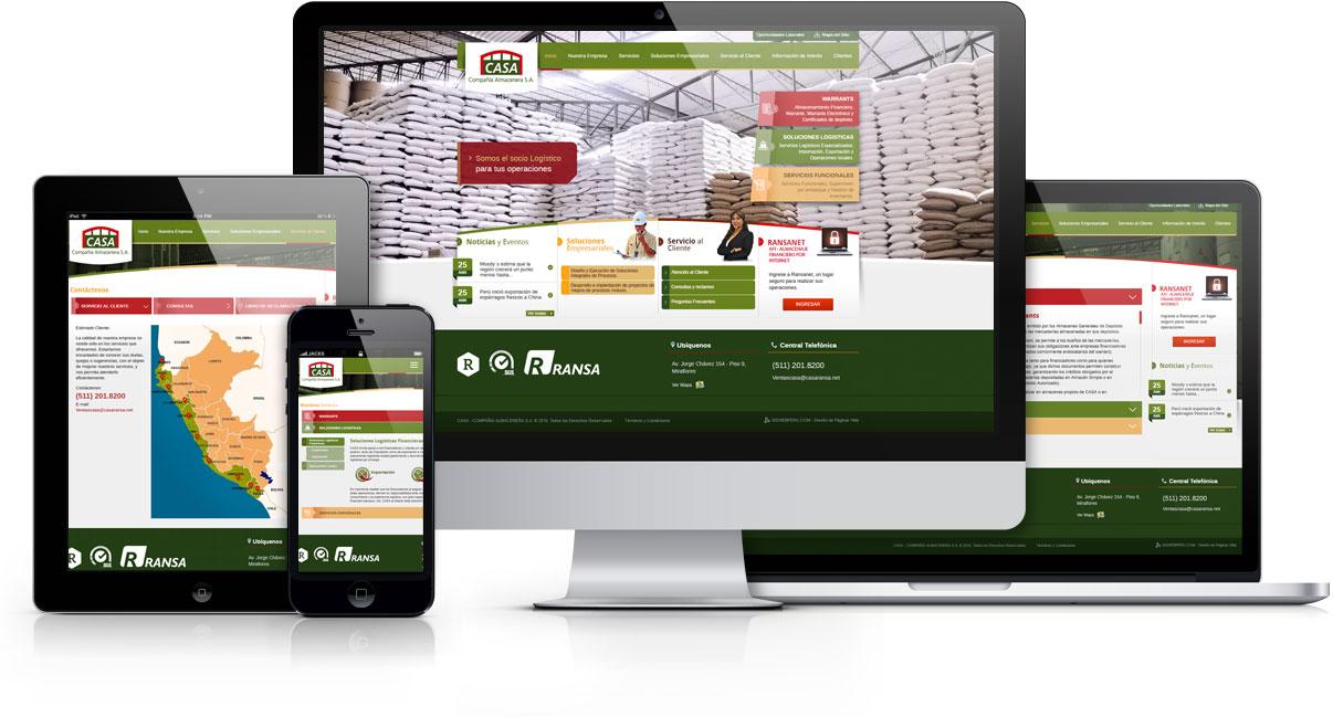 diseño web adaptable casa ransa