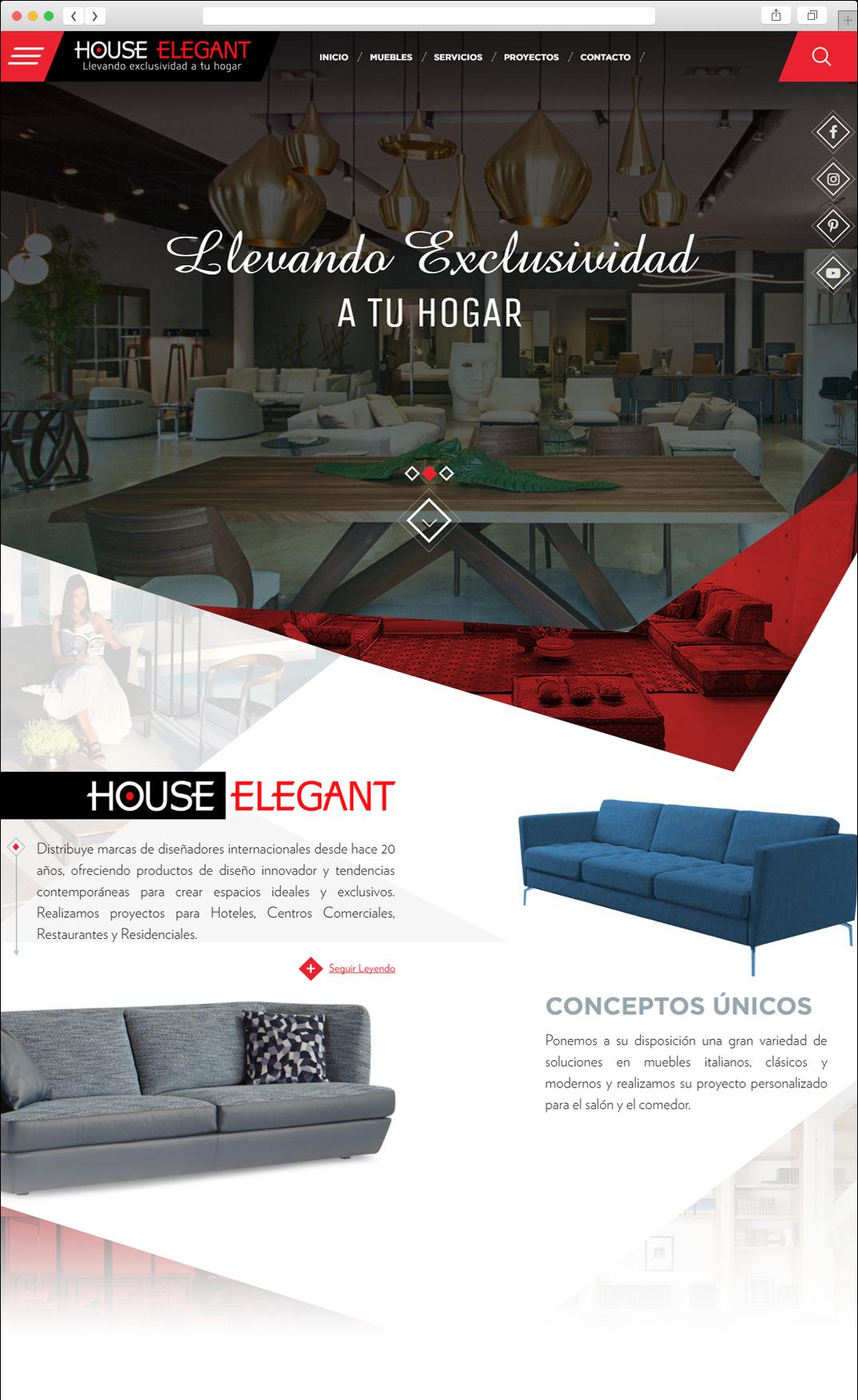 P Gina Web House Elegant Paginas Web Creacion De Paginas Web  # Muebles Pagina Web