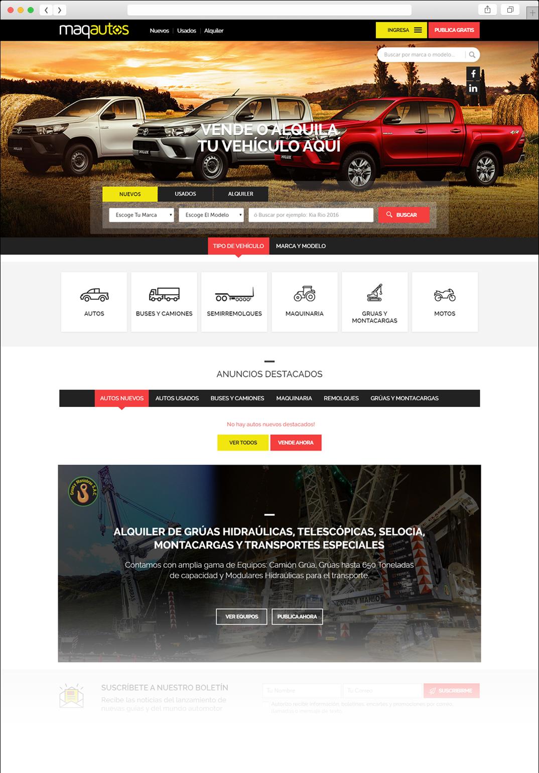 Desarrollo web Portal MaqAutos