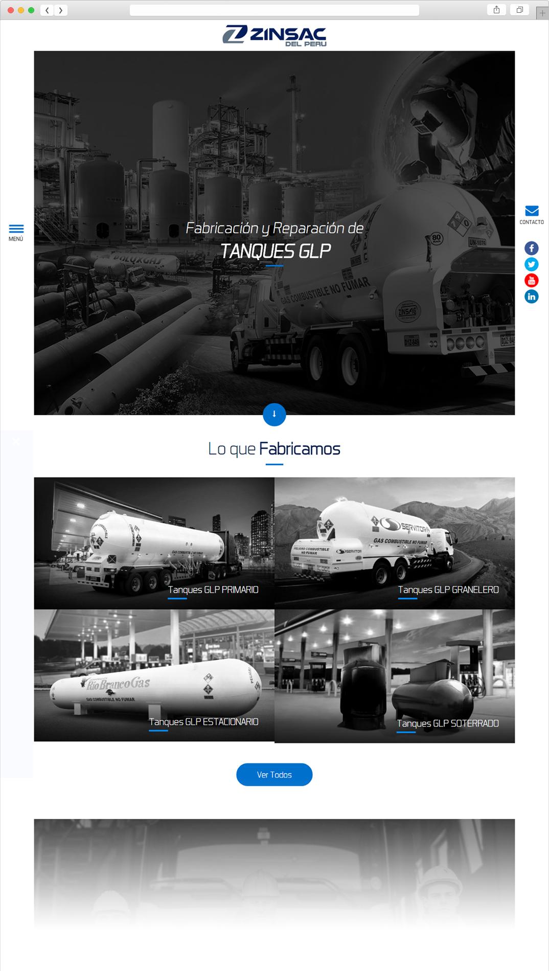 Página Web ZINSAC PERÚ